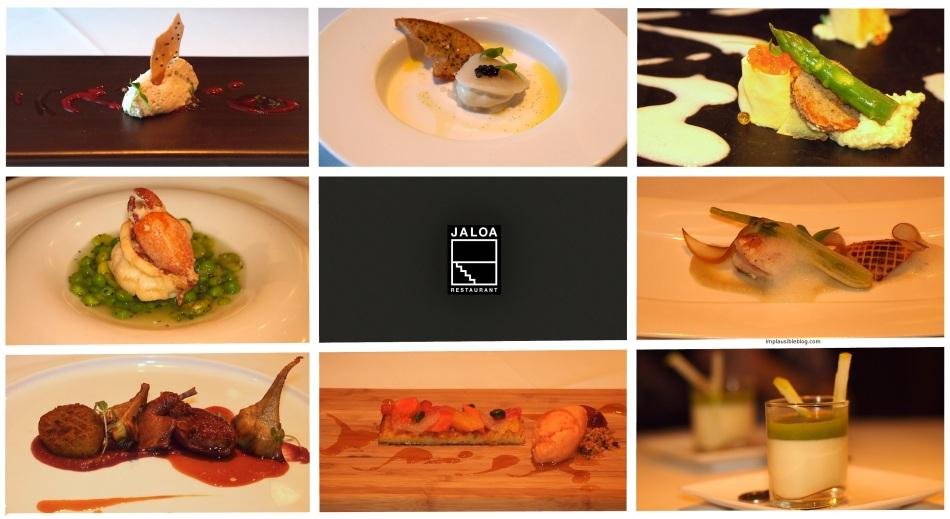 Jaloa Tasting menu